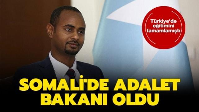 Türkiye'de eğitimini tamamlamıştı... Somali'de Adalet Bakanı oldu