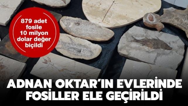 Adnan Oktar'ın evlerinde fosiller ele geçirildi: 879 adet fosile 10 milyon dolar değer biçildi