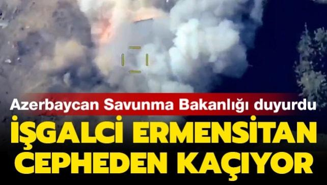 Azerbaycan Savunma Bakanlığı duyurdu:  İşgalci Ermenistan ordusuna ait hedefler yok edildi
