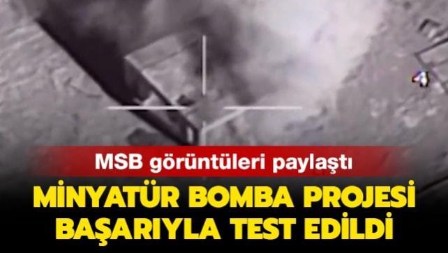 MSB görüntüleri paylaştı: Minyatür Bomba Projesi başarıyla test edildi