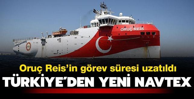 Oruç Reis'in NAVTEX süresi uzatıldı