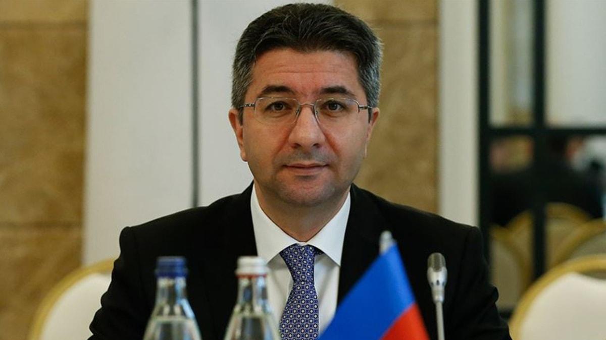 Azerbaycan'ın Almanya Büyükelçisi Hasanov'dan işgalci Ermenistan'a tepki: Misket bombası ve balistik füze kullanarak sivillere saldırmaktadır
