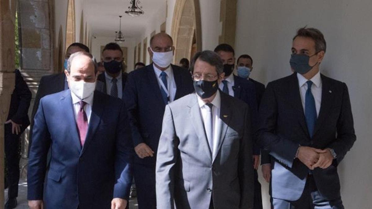 Türkiye karşıtı zirve: Yunanistan, Rum kesimi ve Mısır iş birliği için anlaştılar