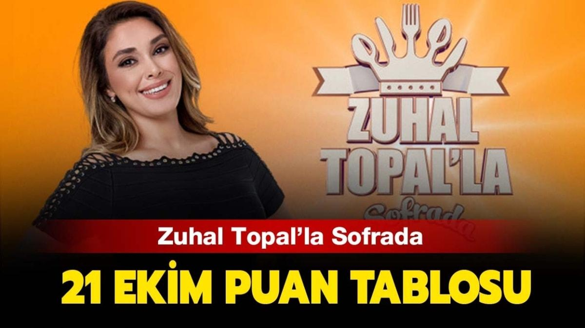 Zuhal Topal'la Sofrada 21 Ekim 2020 puan tablosu