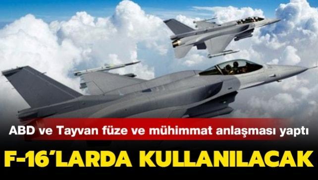ABD'den Tayvan'a füze mühimmatı ve roket sistemi satışı yapıldı! F-16C uçaklarından atılabiliyor
