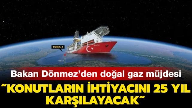 Bakan Dönmez'den doğal gaz açıklaması: Türkiye'deki konutların ihtiyacını neredeyse 25 yıl kadar karşılayacak