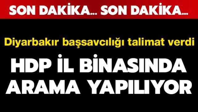 Diyarbakır'daki HDP il binasında arama yapılıyor