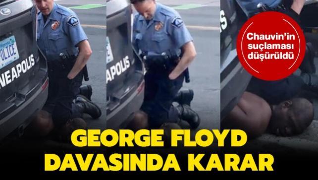 George Floyd davasında karar: Chauvin'in suçlaması düşürüldü