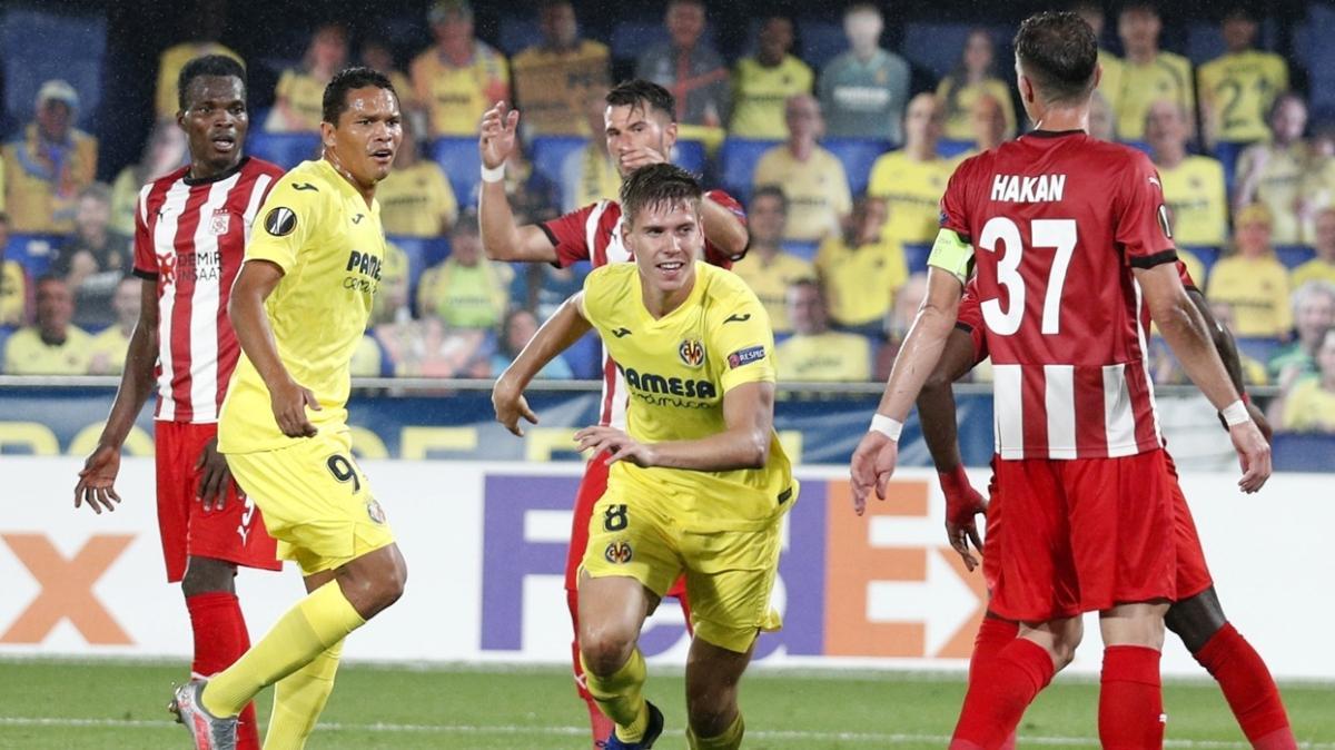 Sivasspor deplasmanda Villarreal'e 5-3 mağlup oldu