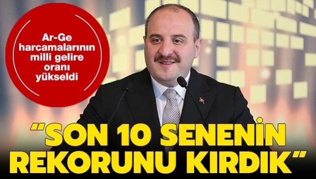 Bakan Varank 'Son 10 senenin rekorunu kırdık!' dedi ve duyurdu: Ar-Ge harcamalarının milli gelire oranı yükseldi