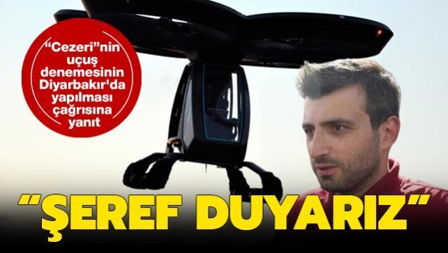 'Cezeri'nin uçuş denemesinin Diyarbakır'da yapılması çağrısına Bayraktar'dan yanıt: Şeref duyarız