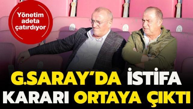Galatasaray'da istifa kararı ortaya çıktı