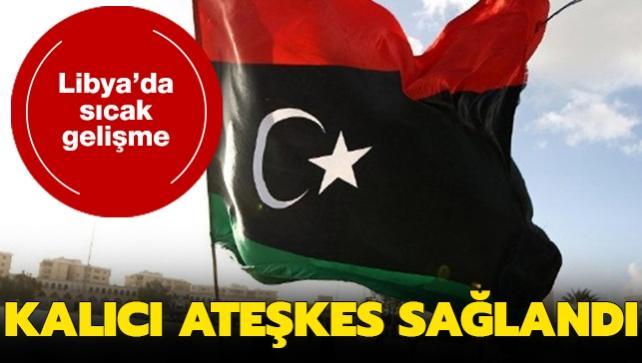 Libyalı taraflar ülke genelinde kalıcı ateşkes için anlaşmaya vardı