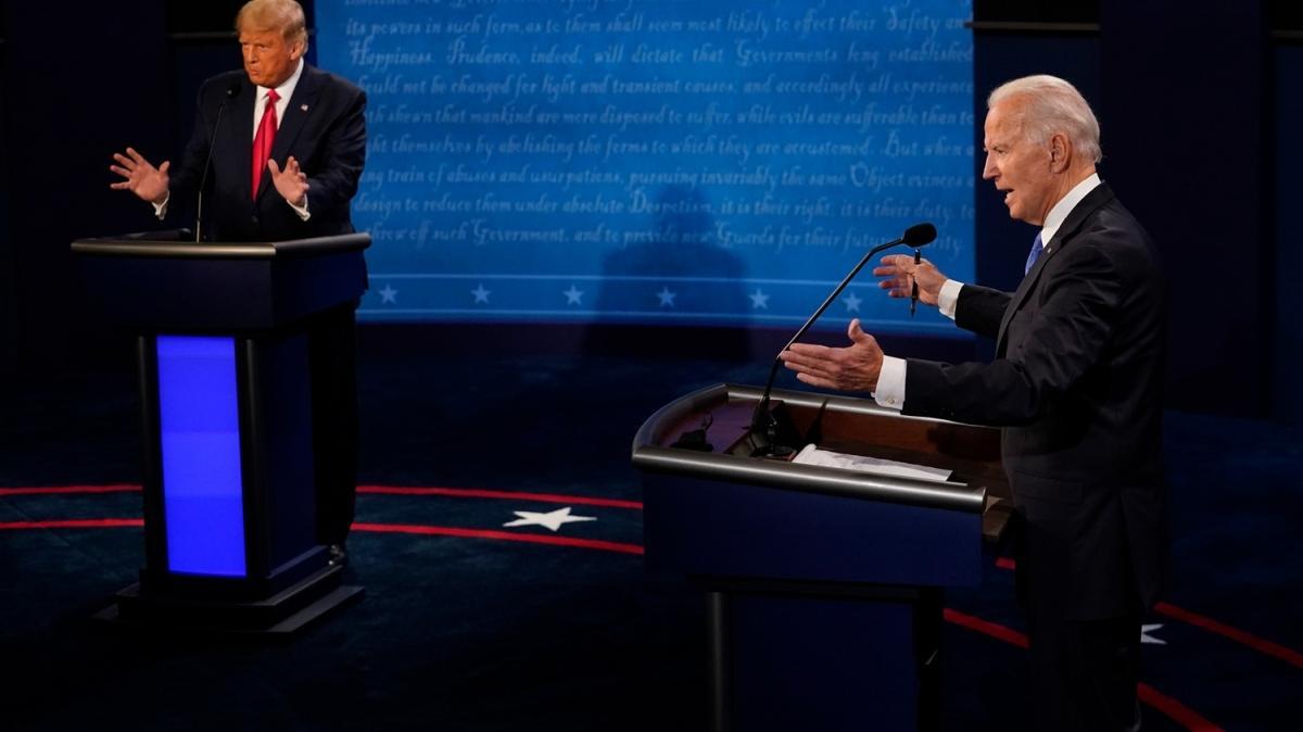 ABD'de başkan adayları Trump ve Biden ikinci kez canlı yayında karşı karşıya geldi