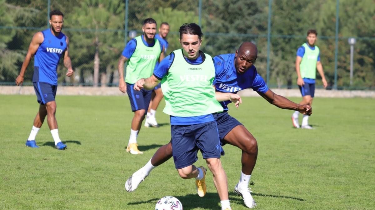 Fenerbahçe maçı hazırlıklarını sürdüren Trabzonspor taktik çalıştı
