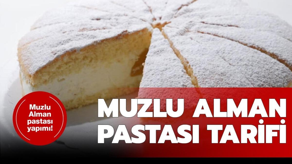 """Muzlu Alman pastası nasıl yapılır"""" Gelinim Mutfakta Muzlu Alman pastası tarifi, malzemeleri!"""