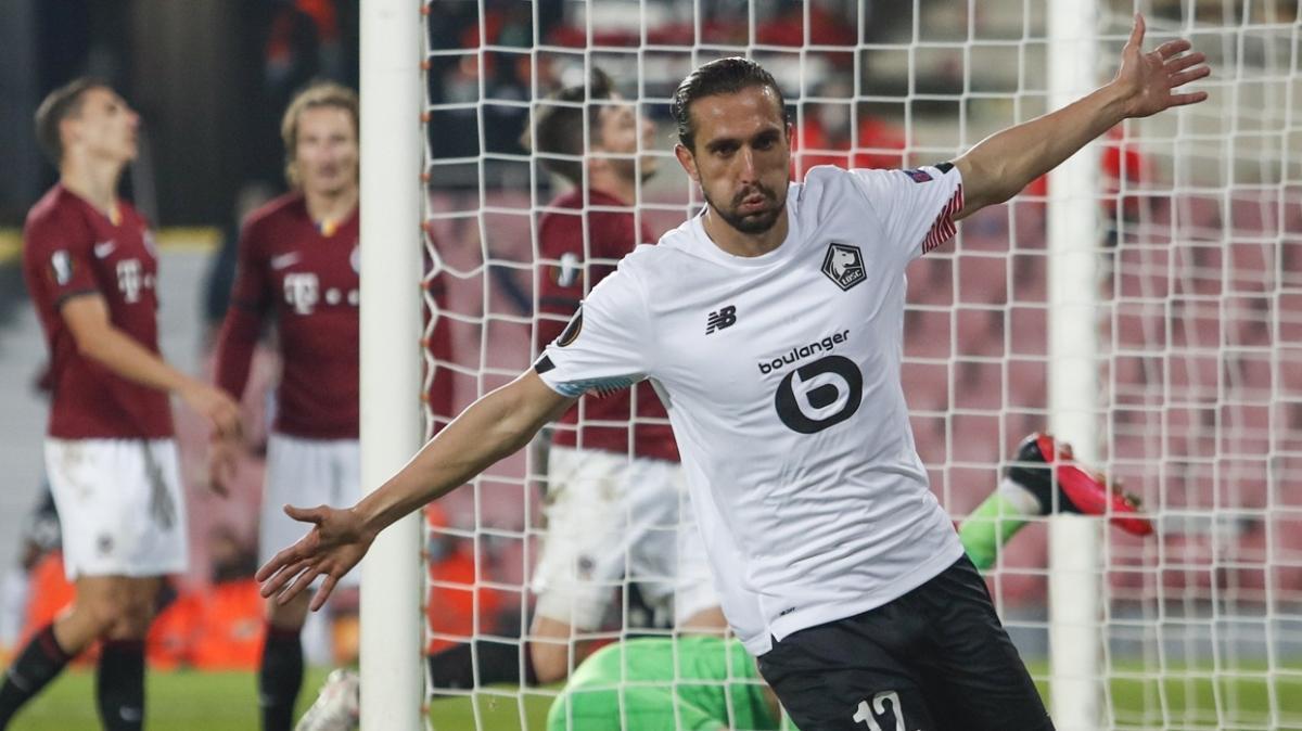 Yusuf Yazıcı'nın hat-trick yaptığı maçta Lille, Sparta Prag'ı 4-1 mağlup etti