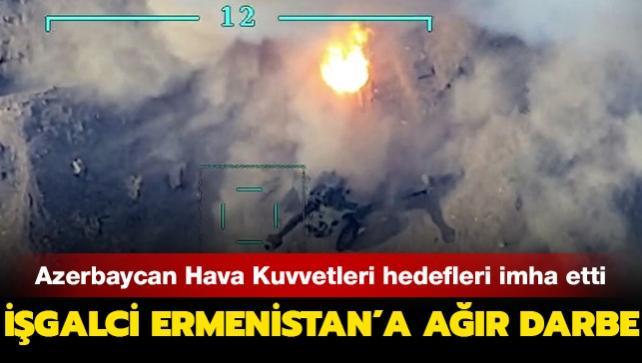 Azerbaycan Hava Kuvvetleri, işgalci Ermenistan'a ait tank ve sığınakları imha etti