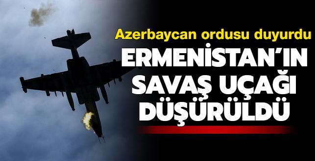 Ermenistan'a ait savaş uçağı düşürüldü