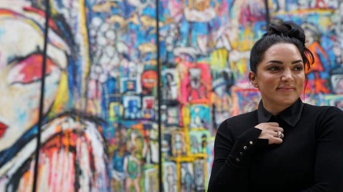 Almanya'nın en büyük tablosu Türk ressamdan