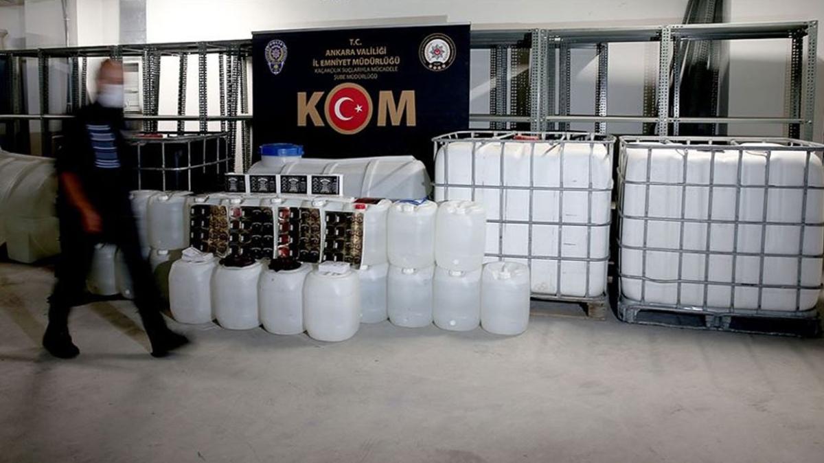 İçişleri Bakanlığı sahte içki operasyonlarının bilançosunu açıkladı: 40 kişi tutuklandı