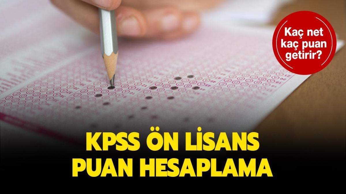 "KPSS ön lisans puan hesaplama nedir, nasıl yapılır"" KPSS kaç net kaç puan getirir"""