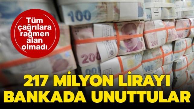 Tüm çağrılar ve süre uzatımına rağmen alan olmadı: 217 milyon lirayı bankada unuttular