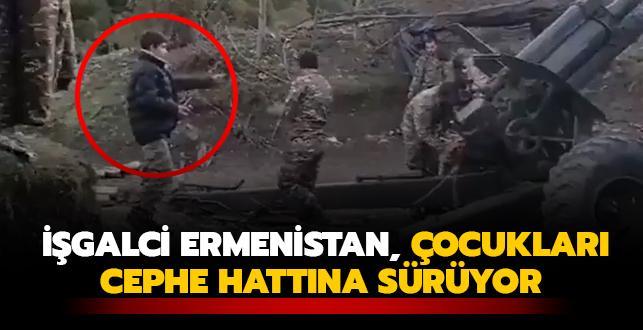 İşgalci Ermenistan, çocukları cephe hattına sürüyor