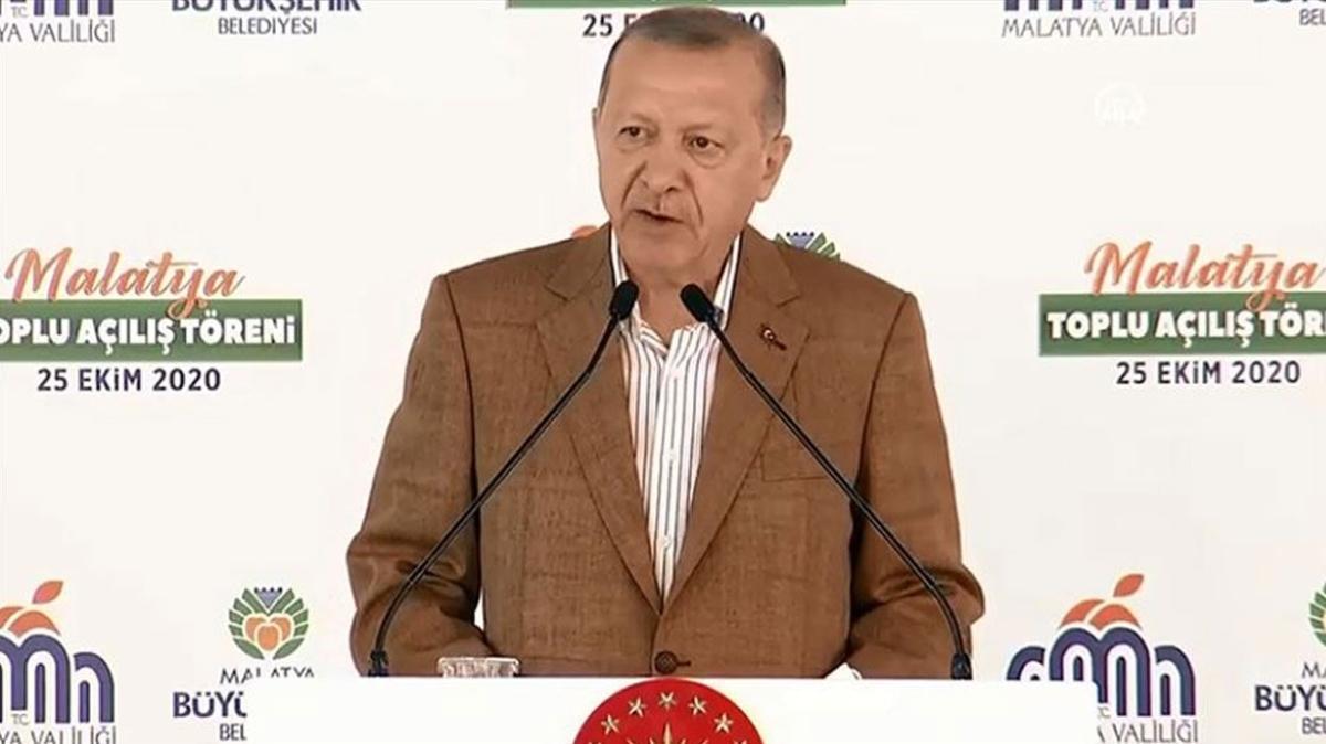 Başkan Erdoğan, Malatya'da toplu açılış töreninde konuştu