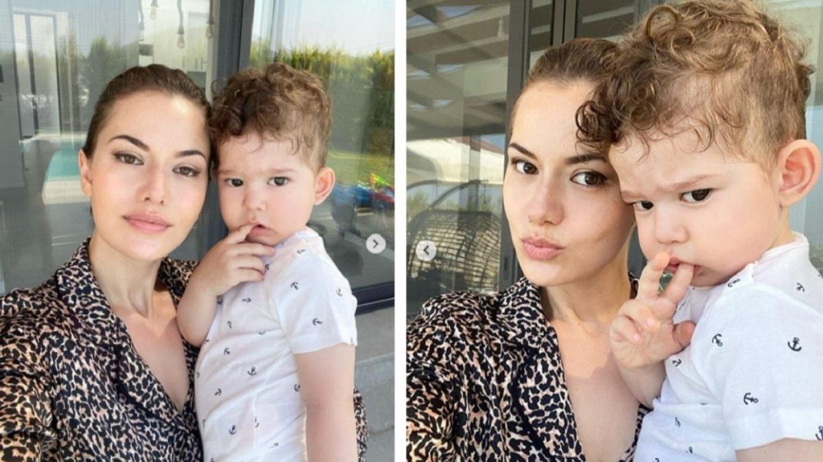 Fahriye Evcen oğlu Karan ile sosyal medyayı salladı! 2 saatte 1 milyonu geçen beğeni aldı