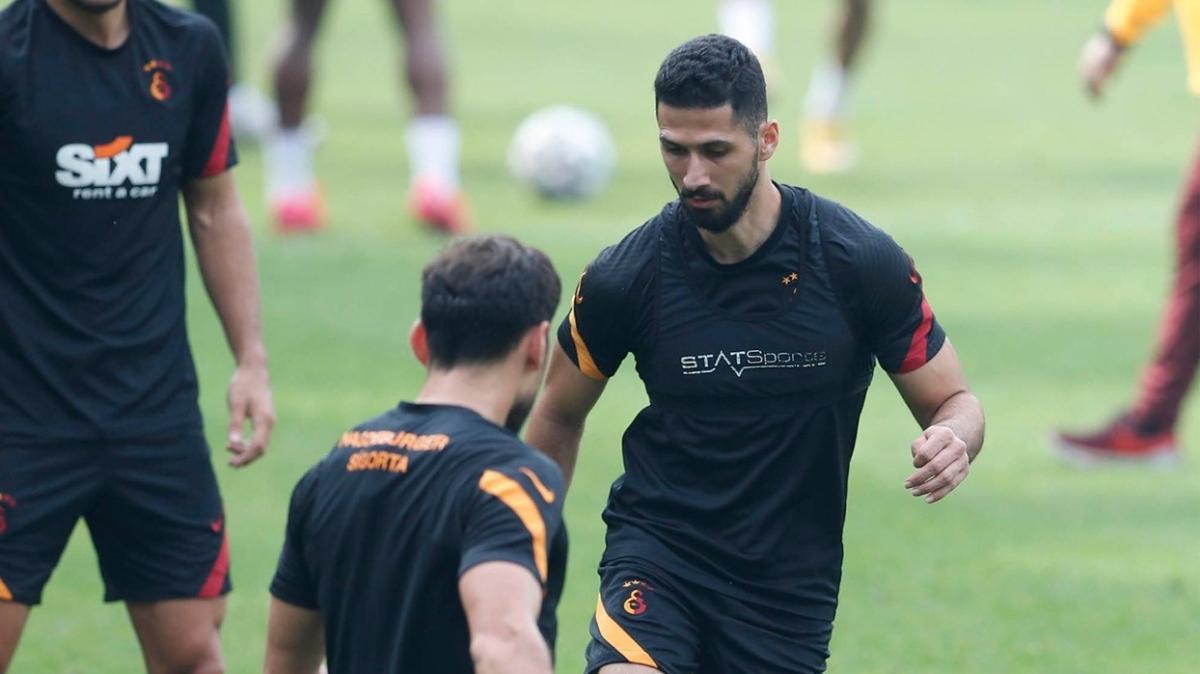 Galatasaray'da Sofiane Feghouli takımla birlikte çalıştı