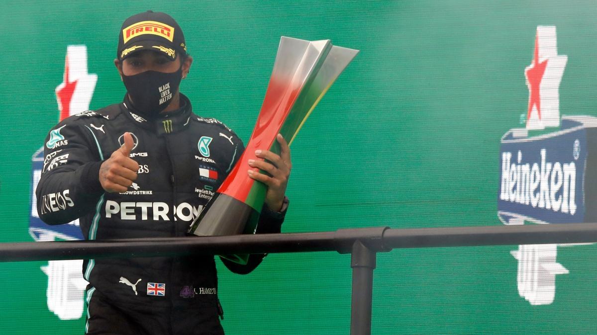 Lewis Hamilton, Portekiz GP'sini kazandı; tarihe geçti