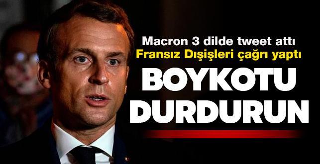 Fransız Dışişleri çağrı yaptı... Boykotu durdurun