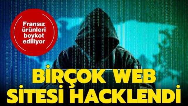 Macron'un İslam karşıtı tutumuna karşılık başlatılan boykota hackerlar da katıldı: Birçok siteye siber saldırı düzenlendi