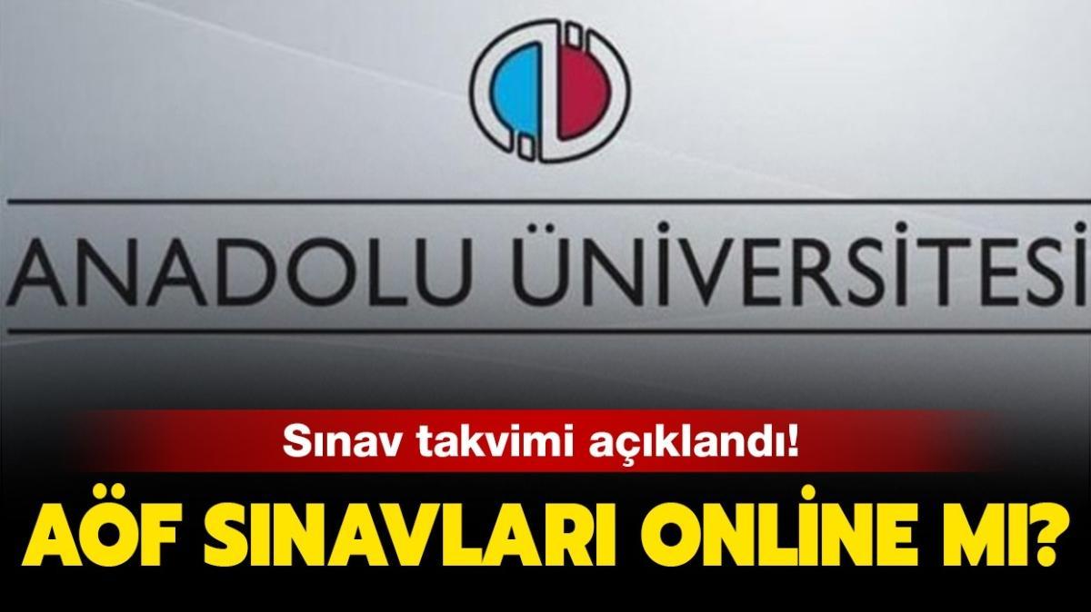 """AÖF sınavları online mı olacak"""""""