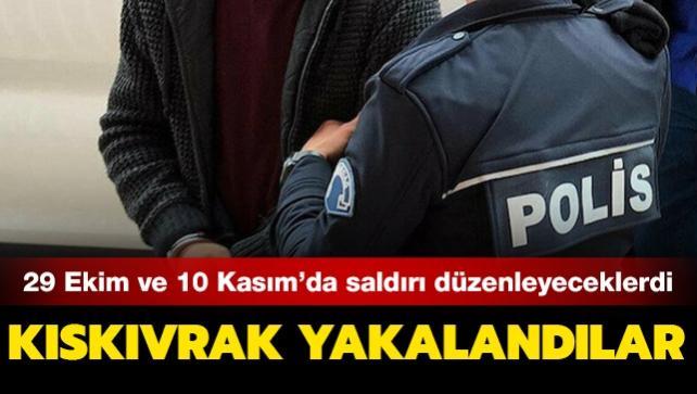 29 Ekim ve 10 Kasım'da saldırı hazırlığında oldukları belirlenen 7 DEAŞ'lı terörist gözaltına alındı