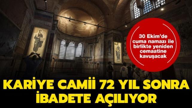 İstanbul'daki Kariye Camii 72 yıl sonra ibadete açılıyor