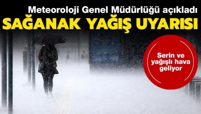 Meteoroloji uyardı: Serin ve yağışlı hava geliyor