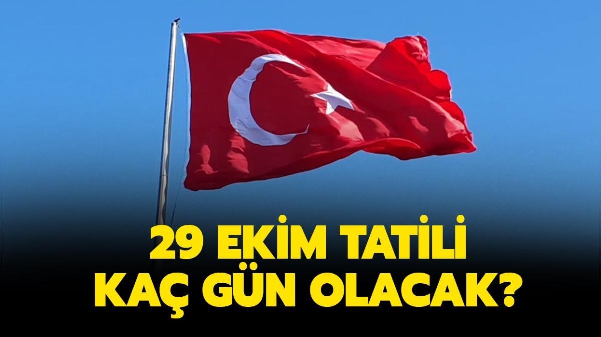 "29 Ekim Cumhuriyet Bayramı tatili kaç gün"" 29 Ekim kaç gün tatil 2020"