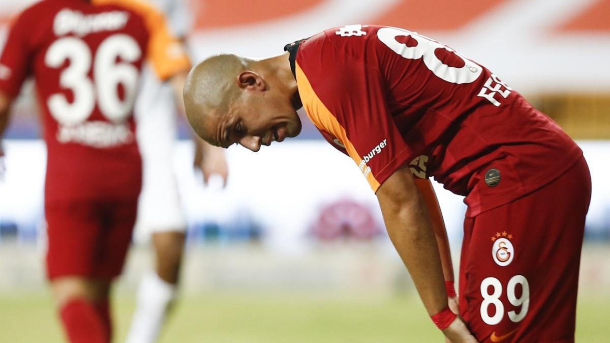 Galatasaray'da Sofiane Feghouli'ye bu hafta da forma yok