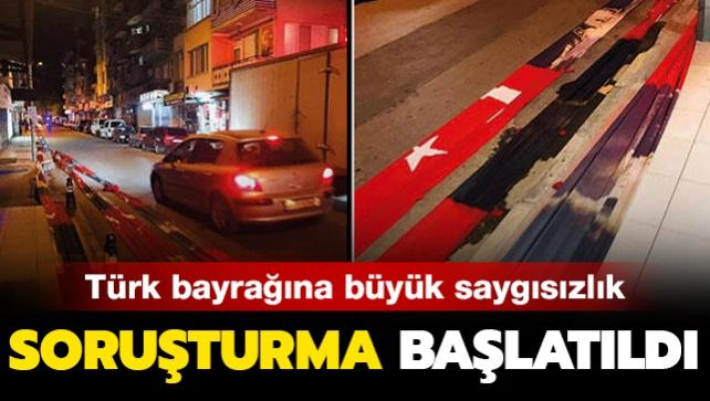 Alaşehir'de Türk bayrağına büyük saygısızlık! Soruşturma başlatıldı