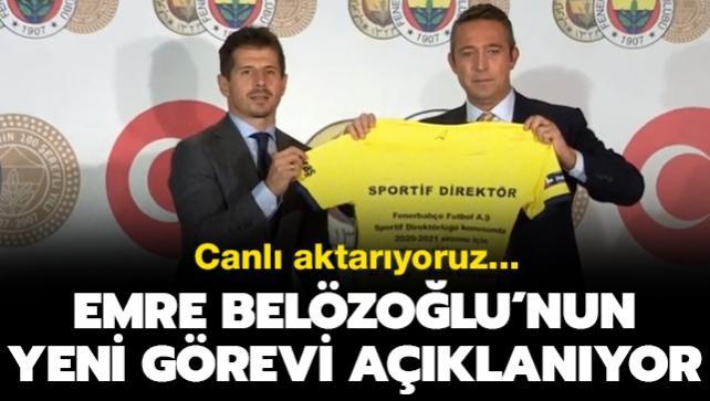 Fenerbahçe, Emre Belözoğlu'nun yeni görevi için basın toplantısı düzenliyor
