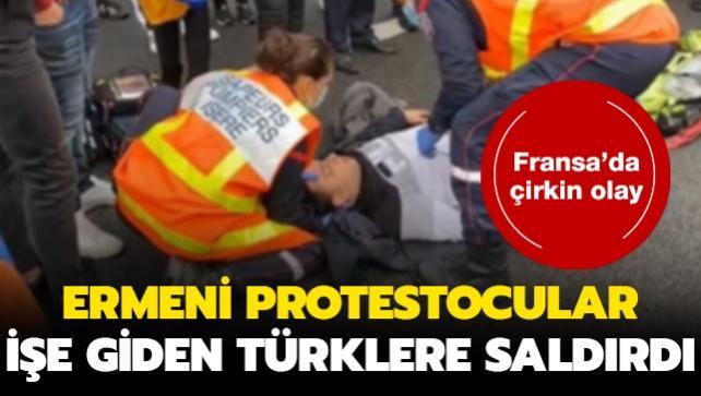 Fransa'da Ermeni protestoculardan Türklere hain saldırı: 5 yaralı