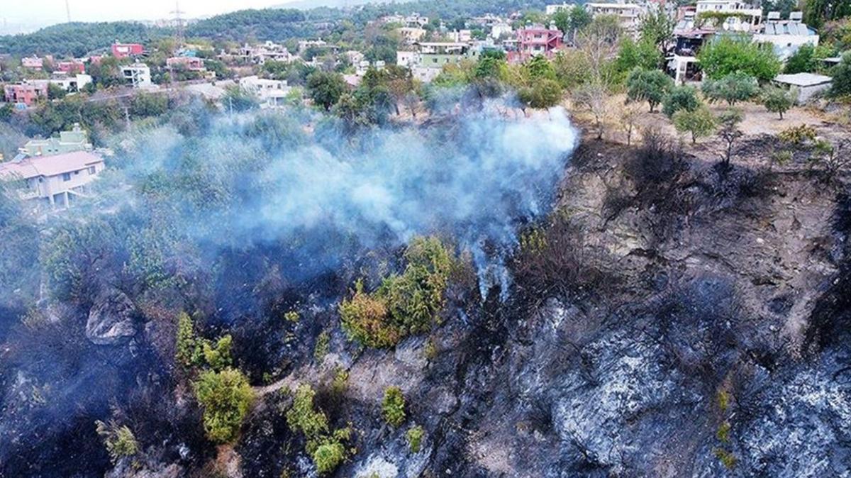 Bakan Pakdemirli açıkladı: Hatay'daki orman yangını kontrol altına alındı