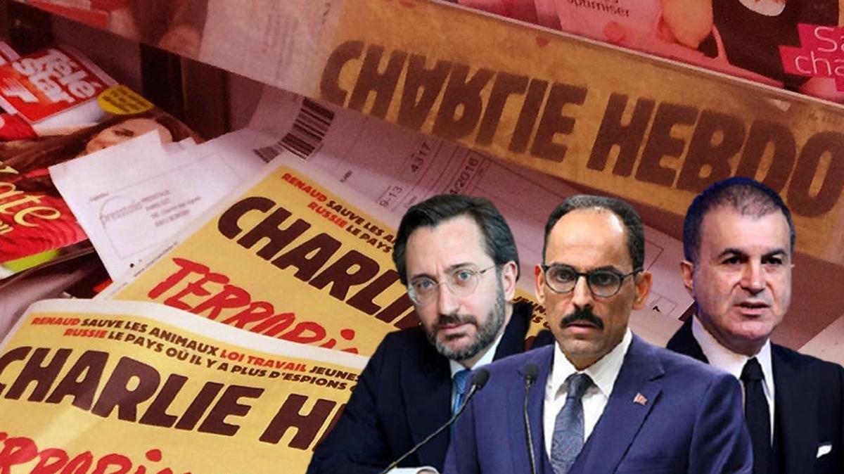 Başkan Erdoğan'a saldıran Fransız sözde mizah dergisi Charlie Hebdo'ya Türkiye'den tepkiler çığ gibi