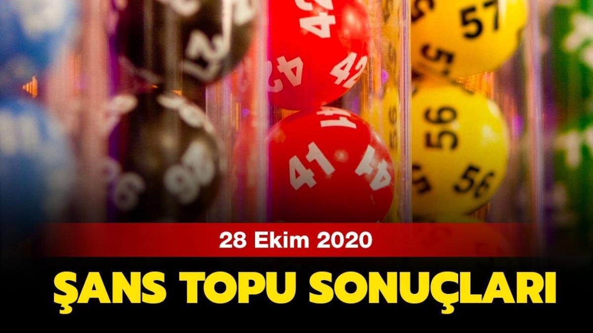28 Ekim 2020 Şans Topu sonuç sorgulama ekranı: Şans Topu sonuçları AÇIKLANDI!