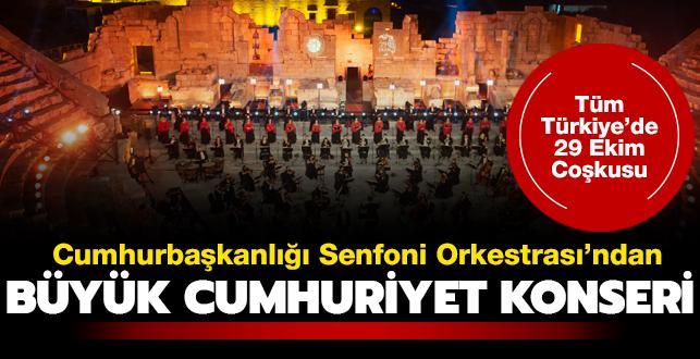 Cumhurbaşkanlığı Senfoni Orkestrası'ndan 'Büyük Cumhuriyet Konseri'