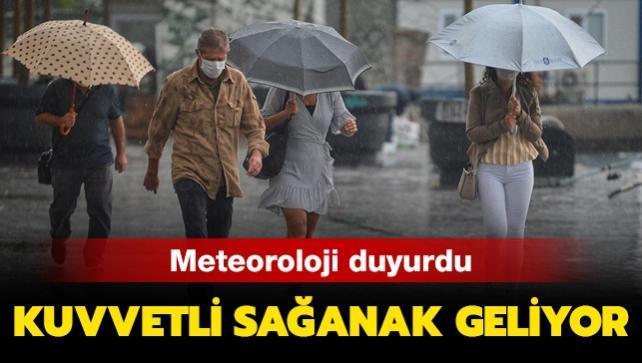 Meteorolojiden İstanbul ve Tekirdağ için son dakika uyarısı: Kuvvetli yağış geliyor