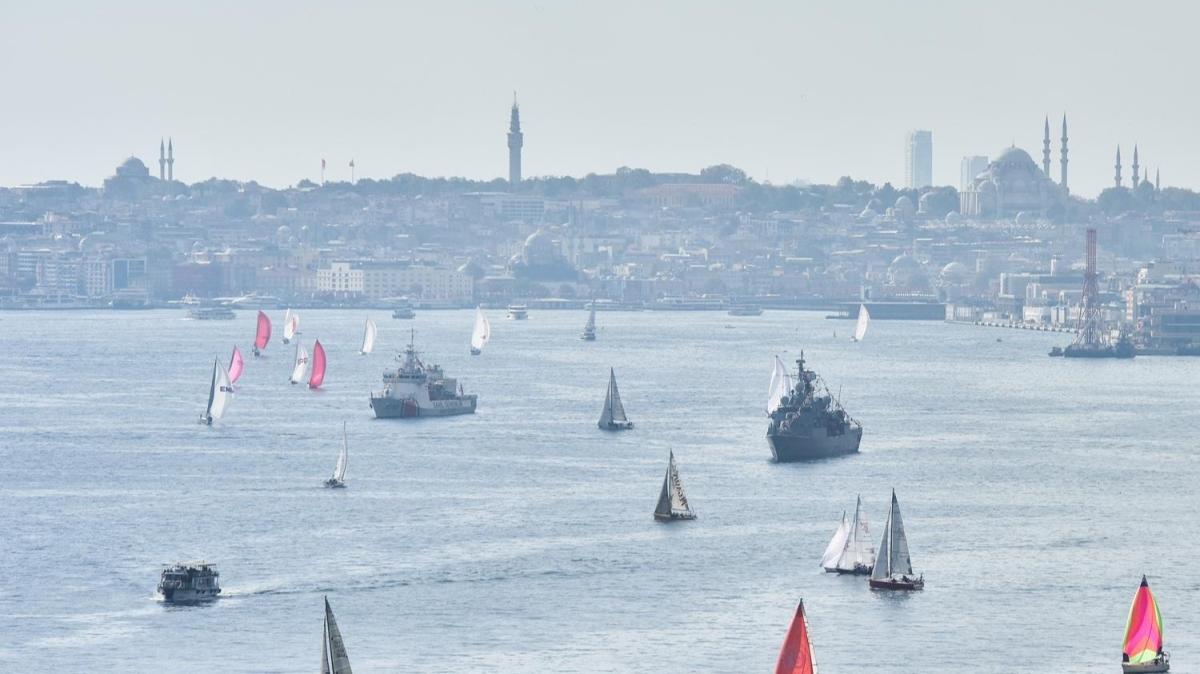 Boğaz ve Marmara Denizi'ndeki yarışlar şampiyonu belirleyecek Cumhurbaşkanlığı Uluslararası Yat Yarışı başladı