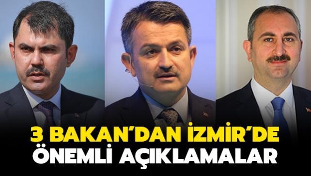 Bakanlar İzmir'de önemli açıklamalarda bulundu